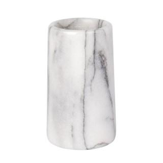 Gobelet de salle de bain design marbre Onyx - Blanc