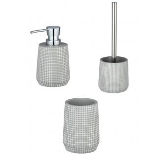 Set d'accessoires de salle de bain design Ohrid - Gris