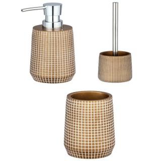 Set d'accessoires de salle de bain design Ohrid - Doré