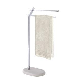 Porte-serviettes en inox design nature Puro - L. 44 x H. 79 cm - Gris