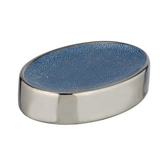 Porte savon design Nuria - Bleu et argent