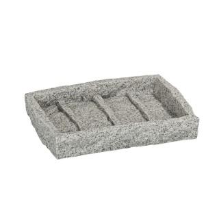 Porte-savon design Granite - Gris