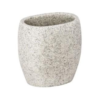 Gobelet de salle de bain design nature Puro - Gris clair