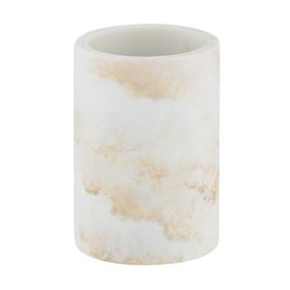 Gobelet de salle de bain design marbre Odos - Blanc