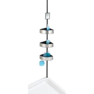 Etagère de douche extensible en alu Premium Big - L. 27 x H. 70/260 cm - Argent