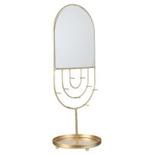 Porte-bijoux avec miroir design Art Déco - Doré