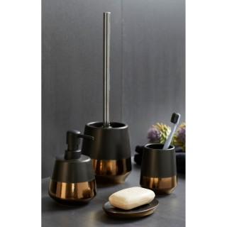 Set d'accessoires de salle de bain design Brandol - Noir mat
