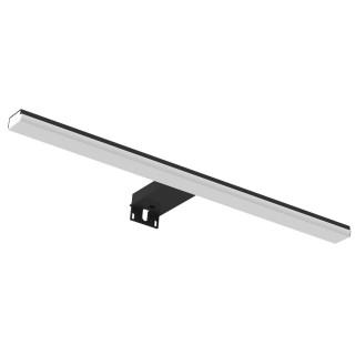 Applique LED pour miroir salle de bain BLITZ - L. 46 x H. 4 cm - Noir mat