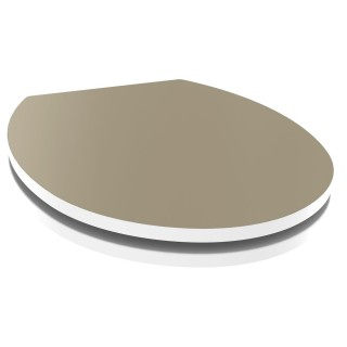 Abattant WC design Kristal - Taupe clair