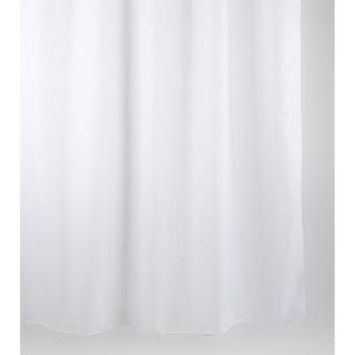 Rideau de douche uni Albin - 200 x 240 cm - Blanc