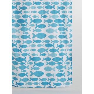 Rideau de douche bord de mer MARINA - 180 x 200 - Blanc
