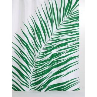 Rideau de douche tropical Walden - 180 x 200 cm - Blanc