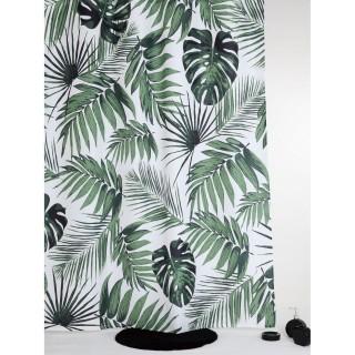 Rideau de douche tropical Foster - 180 x 200 cm - Blanc