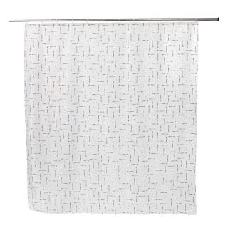 Rideau de douche design ARROW BLACK - 180 x 200 - Blanc