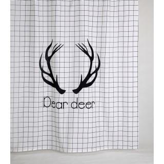 Rideau de douche design DEAR - 180 x 200 - Blanc