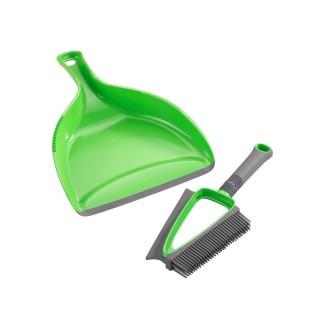 Pelle et balayette nettoyage sec et liquide Duo - Vert