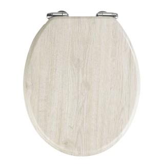 Abattant WC en MDF design bois chêne - Gris
