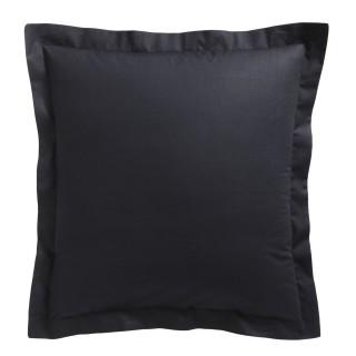 Taie d'oreiller Réglisse - 100% coton 57 fils - 75 x 75 cm - Noir