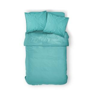 Housse de couette Diabolo Menthe - 100% coton 57 fils - 240 x 260 cm - Bleu turquoise