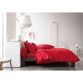 Parure de lit Pomme d'amour - 100% coton - 220 x 240 cm - Rouge