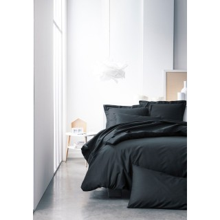 Parure de lit Réglisse - 100% coton - 240 x 260 cm - Noir