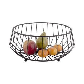 Corbeille à fruits design métal Kink - Noir