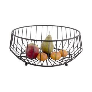 Corbeille à fruits design métal large Kink - Noir