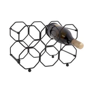 Range bouteille pliable design métal Honey - L. 31 x H. 22 cm - Noir