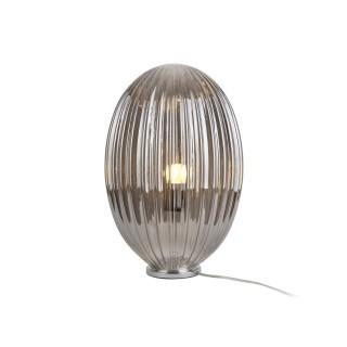 Lampe à poser design vintage Smart large - H. 45 cm - Gris fumé