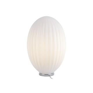 Lampe à poser design vintage Smart large - H. 45 cm - Blanc