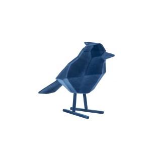 Statuette oiseau design floqué Origami - Bleu