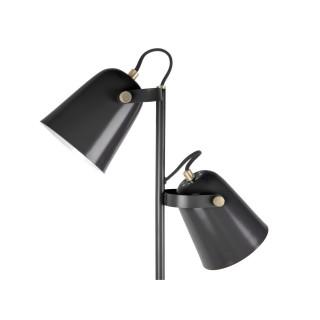 Lampadaire double design Steady - H. 158 cm - Noir
