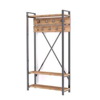 Porte manteau design industriel Sapphire - L. 90 x H. 180 cm - Noir