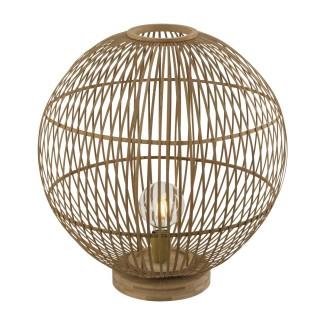 Lampe à poser design bambou Hildegard - Diam. 50 x H. 53 cm - Beige naturel