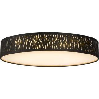 Plafonnier rond à LED design velours Tuxon -  Diam 60 cm - Noir