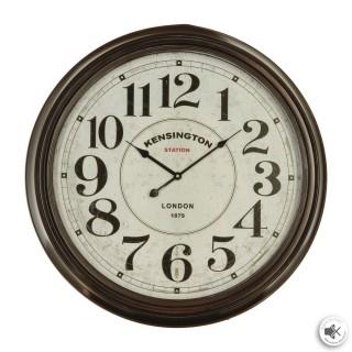 Horloge murale design vintage Kensington - Diam. 62 cm - Noir