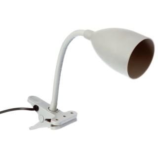 Lampe à pince en silicone - H. 43 cm. - Gris