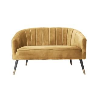 Canapé art déco en velours Royal - 2 Places - Marron