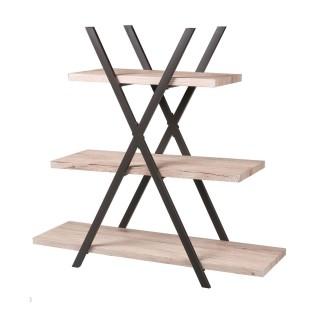 Etagère pyramide design industriel Dock - L. 100 x H. 101 cm - Noir
