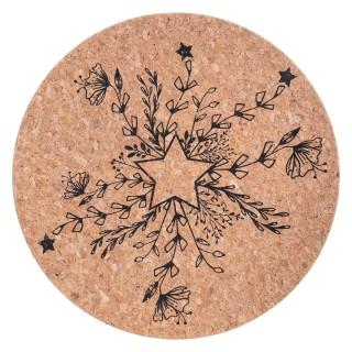 Assiette de présentation liège Terre Sauvage - Vaisselle de Noël - Marron