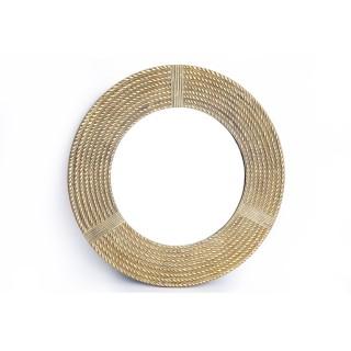 Miroir rond effet corde Elisa - Diam. 64 cm - Doré