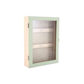 Boîte à clés design jonc de mer Eucalyptus - Vert