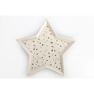 Assiette de Noël design étoile Trinket - Blanc