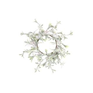 Centre de table pour bougie Noël Mistletoe - Vert