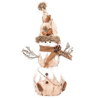Décoration de Noël en bois bonhomme Terre sauvage - Beige