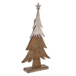 Décoration de Noël à poser en bois sapin Terre sauvage - Marron