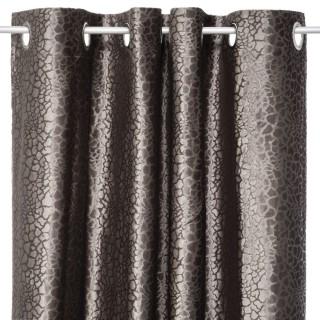 Rideau design croco Dahlia - L. 140 x l. 250 cm - Beige