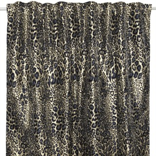 Rideau design léopard Jungle électro - L. 145 x l. 250 cm - Or et noir