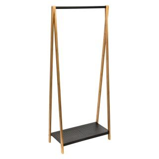Portant à vêtement design scandinave Pegase - L. 74 x H. 160 cm - Noir