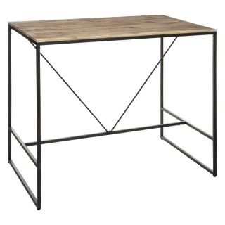 Table haute design industriel Edena - L. 115 x H. 98 cm - Noir